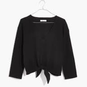 Madewell Tops - MADEWELL Texture & Thread Tie-Knot Top NWT XL Blk